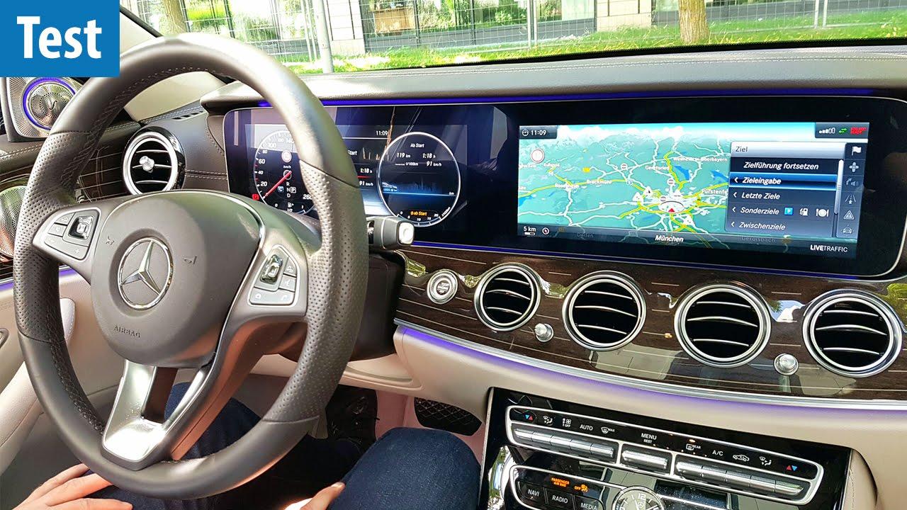 Riesiges Doppel-Display - Mercedes E-Klasse im Test ...