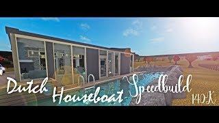 Roblox Bloxburg | Dutch Houseboat Speedbuild | 140k