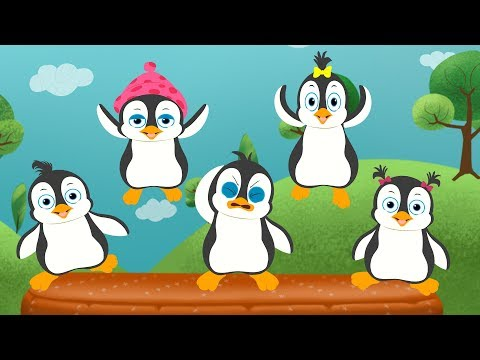Five Little Penguins Jumping On The Bed  1 To 5 Songs  FunForKidsTV Compilation
