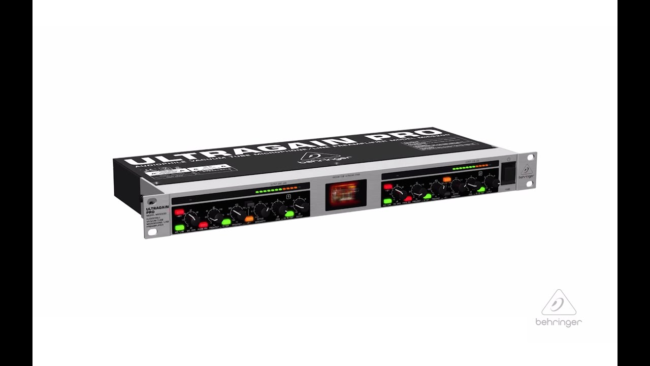 Ultragain Pro Mic2200 Vacuum Tube Microphone Line Preamplifier Youtube Preamp