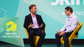 Gambar cover Airbnb Head of Hotels and HotelTonight CEO at Skift Global Forum 2019