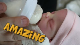 Silicone Full Body Baby Doll Drinks Real Formula Bottle - Silicone Baby Dolls Night Routine