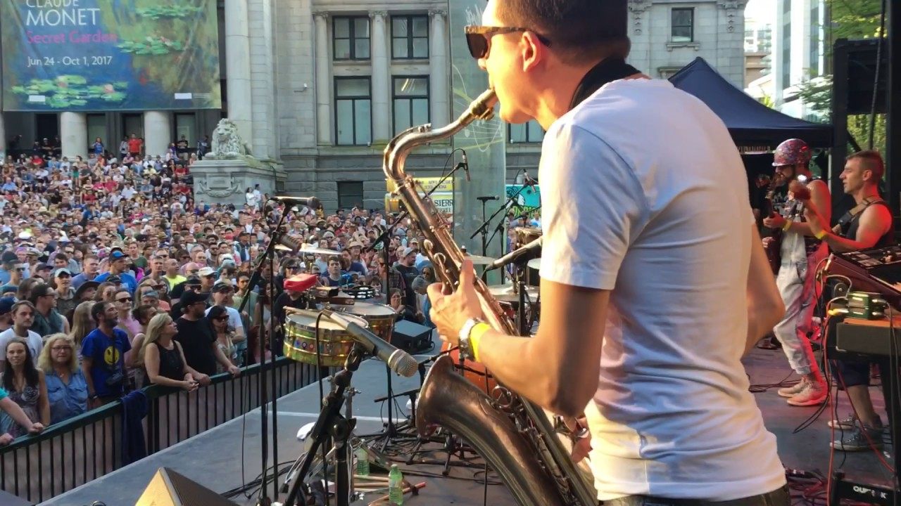 Sax Solo at 2017 Vancouver International Jazz Festival with Five Alarm Funk!