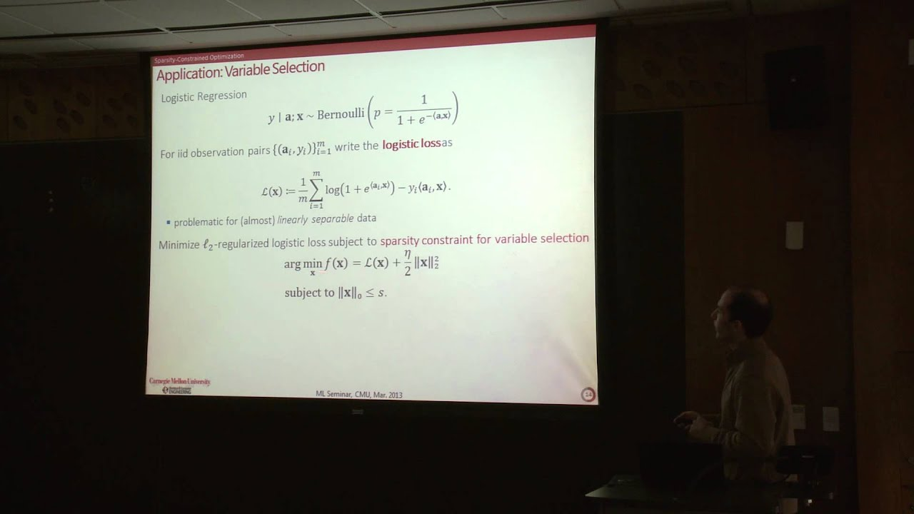 CMU Machine Learning Lecture - March 18, 2013