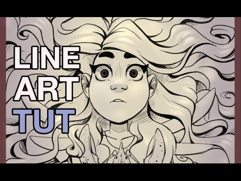 lineart tutorial how to improve your lineart youtube
