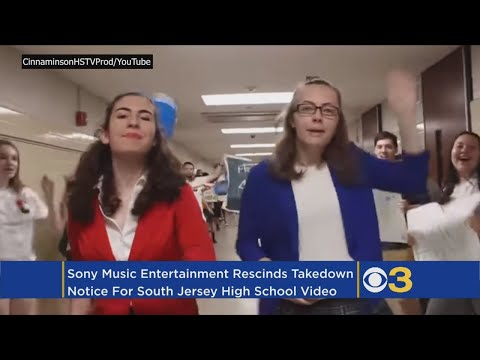 Cinnaminson High School Students' YouTube Lip Sync Video Back Up After Sony Rescinds Takedown Notice