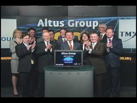 Altus Group (AIF.UN:TSX) opens Toronto Stock Exchange, May 17, 2010