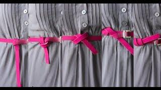 5 Ways To Tie A Belt (Part 1)