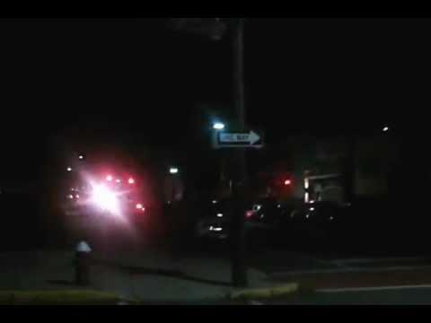 Engine 4 Bayonne Fire department responding to a smoke alarm