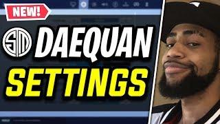 TSM Daequan Fortnite Settings and Keybinds (NEW KEYBINDS, MONITOR & MORE)