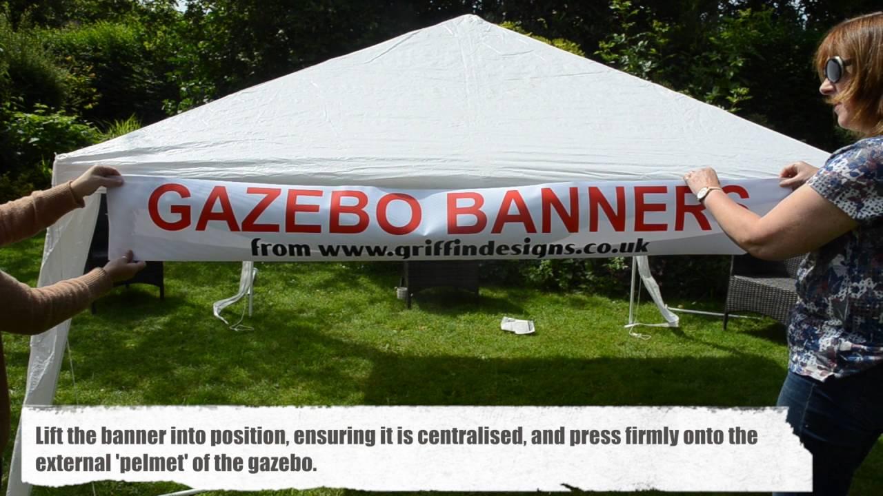 Gazebo Banners & Gazebo Banners - YouTube