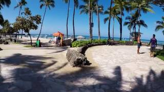 A WALK DOWN WAIKIKI BEACH