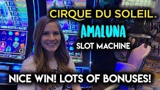 BONUS After BONUS! NEW Cirque Du Soleil Ama Luna! Slot Machine!! Great Run!!