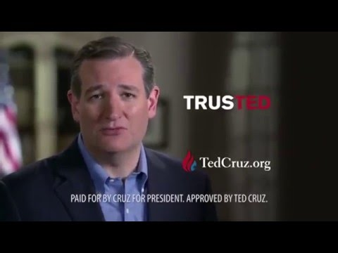 Ted Cruz  The American senator Add featuring Amy lindsay