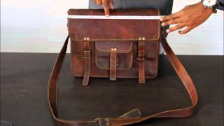 Vintage Handmade Leather bag,A dying art HELP IT SURVIVE