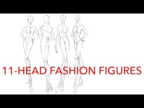 How to Draw 11-Head Fashion Figures (2 Methods)