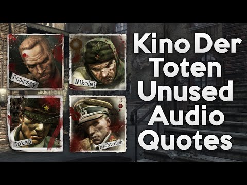 Kino Der Toten ALL UNUSED / CUT AUDIO QUOTES! (Black Ops Zombies)