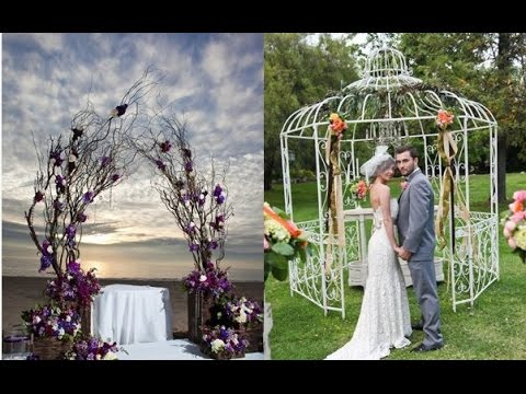 Cheap Wedding Arch Decoration Ideas - YouTube
