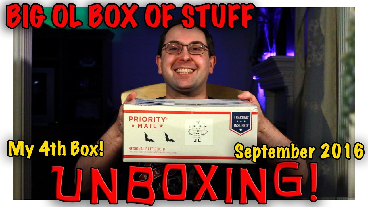 unboxing big ol box of stuff september 2016 my 4th bobos marvel star wars youtube. Black Bedroom Furniture Sets. Home Design Ideas