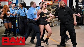Download Ronda Rousey, Becky Lynch and Charlotte Flair are arrested: Raw, April 1, 2019 Mp3 and Videos