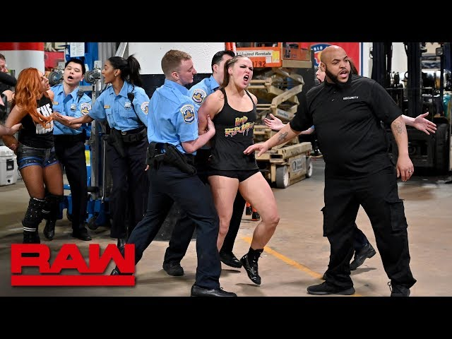 Ronda Rousey, Becky Lynch and Charlotte Flair are arrested: Raw, April 1, 2019