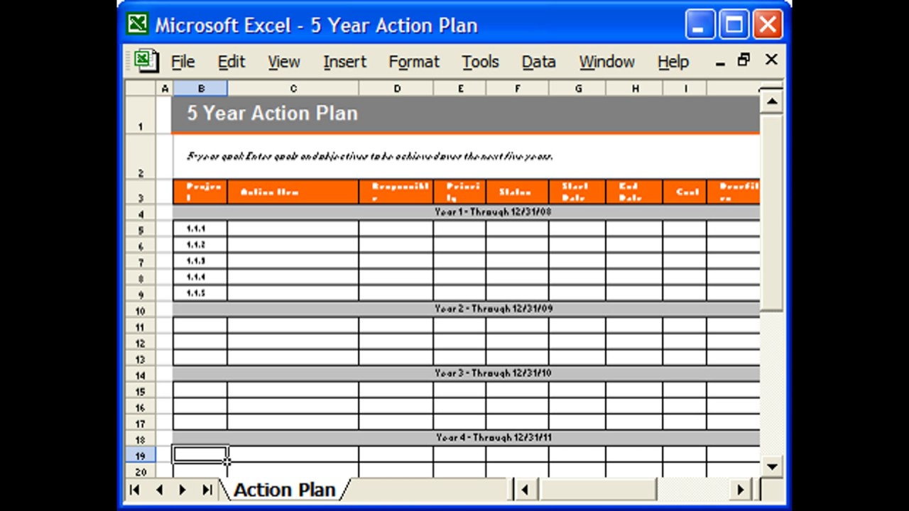 Action Plan Template | Action Plan Template Excel Youtube