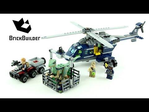 Lego Jurassic World 75928 Blue's Helicopter Pursuit - Lego Speed build