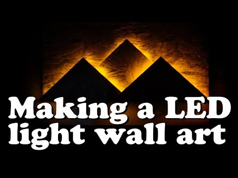 Making A Led Light Wall Art !!!