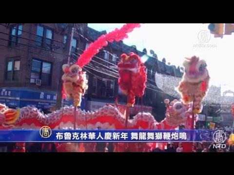 布鲁克林华人庆新年 舞龙舞狮鞭炮鸣(中国黄历新年)
