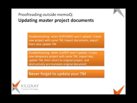 MemoQ Webinar Proofreading