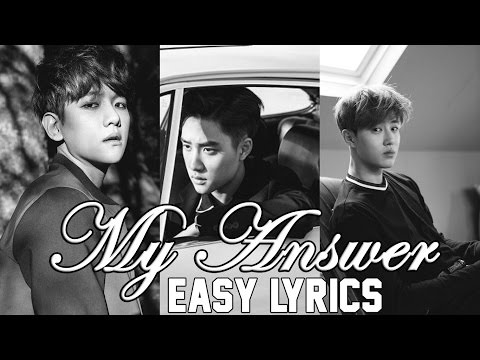 EXO-K - My Answer [EASY LYRICS]
