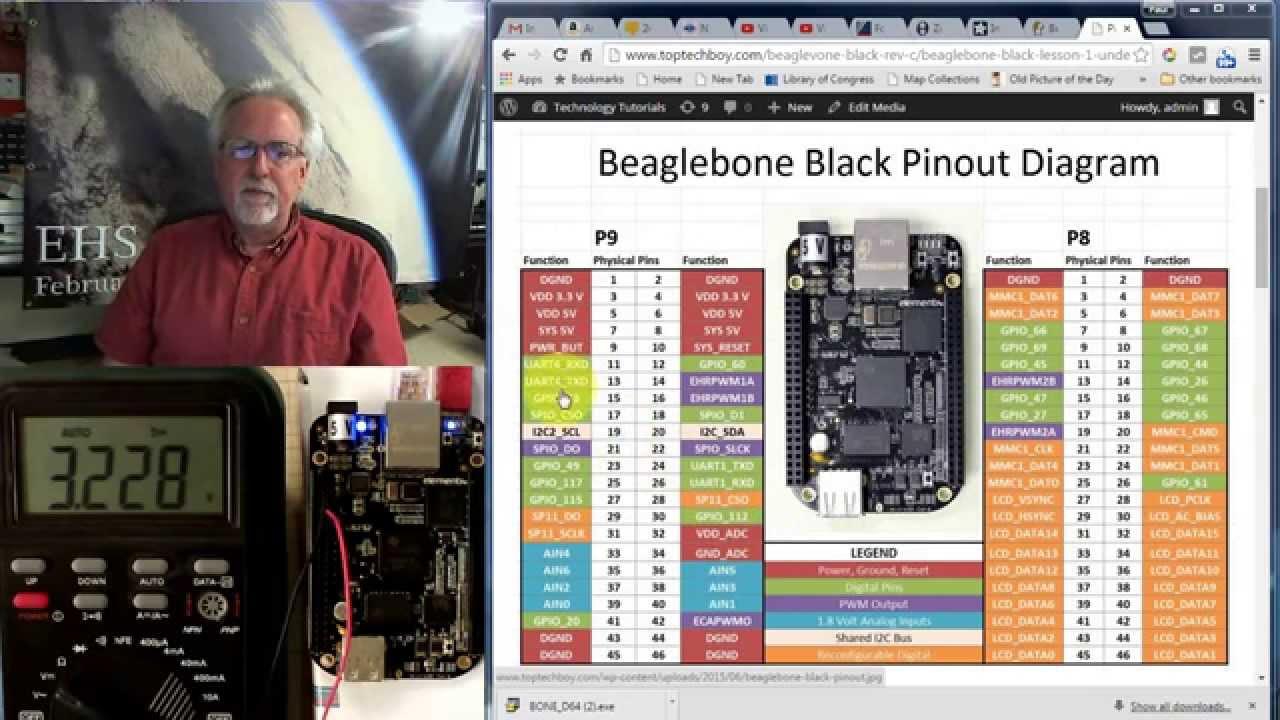 Beaglebone Black LESSON 4: Digital Write to the GPIO Pins