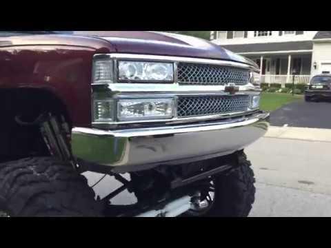 Custom Chevy Silverado >> clean obs lifted sas chevy on fules - YouTube