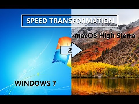 Speed Transformation Windows 7 To MacOS High Sierra