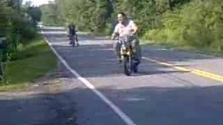 big guys racing little bikes