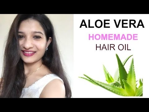 #3 Hair care - Home made Aloe Vera Hair oil in Hindi with English subtitles (DIY for Hair care)