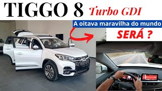 TIGGO 8 TURBO GDI, andamos no lançamento da Caoa Chery, SUV de 7 lugares, luxuoso, alto e esporte.