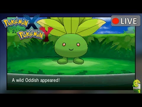 Pokemon X and Y: Shiny Oddish found on Route 6 (Deleted Scenes)