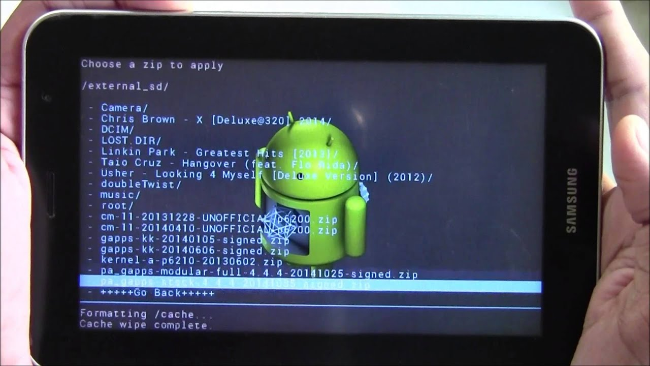 How To Flash Install Android 44 On Samsung GalaxyTab 70 Plus P6200