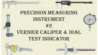Types of precision measuring instruments #2 Vernier caliper