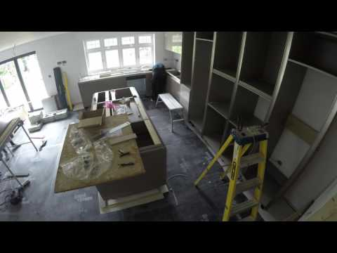 Time lapse video of German kitchen being installed by Blax Kitchens