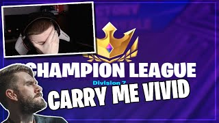 I Had to Carry 72hrs to the HIGHEST Fortnite Rank - Champion League