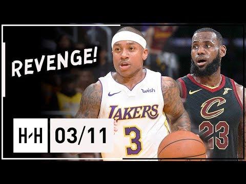 Isaiah Thomas Full Highlights Lakers vs Cavaliers (2018.03.11) - 20 Pts, 9 Assists vs LeBron!