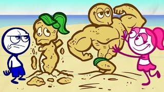 Petualangan Pulau Pencilmate! | Karakter Kartun Animasi | Pencilmation Bahasa Indonesia