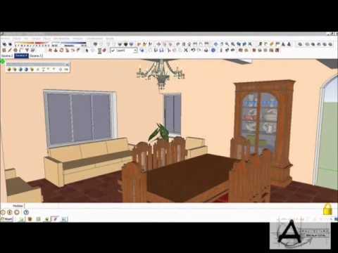 como hacer un sencillo render interior en sketchup  YouTube