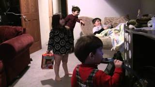 My Kids dancing to Elmo & Ricky Gervais video