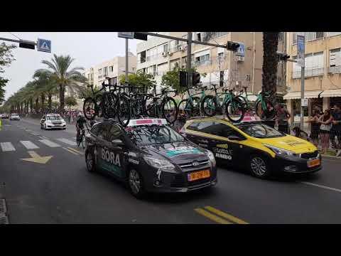 Giro d'Italia bike race starts with historic ride through Tel - Aviv Israel 2018