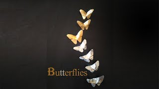 How to make Easy Foil Paper Butterflies | Complete Paper Craft Tutorial