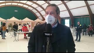Le vaccinazioni anti-covid al PalaCosmai - l'Intervista al Sindaco Angarano