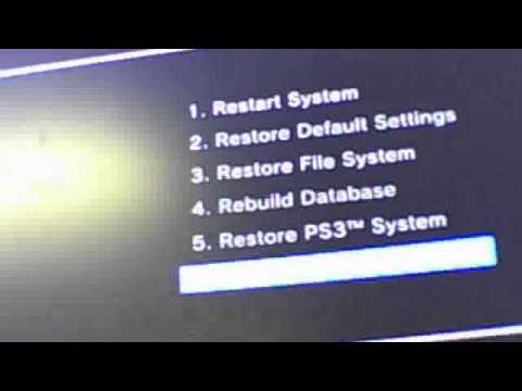 PlayStation 3 Hard Disk Drive (HDD) File System Is Corrupted